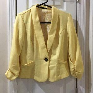 Maurices yellow blazer